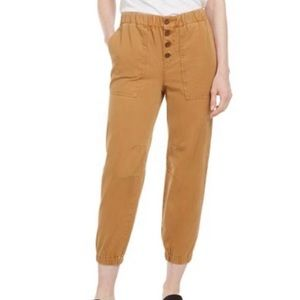 Free People Mustard Yellow Cadet Jogger Pants